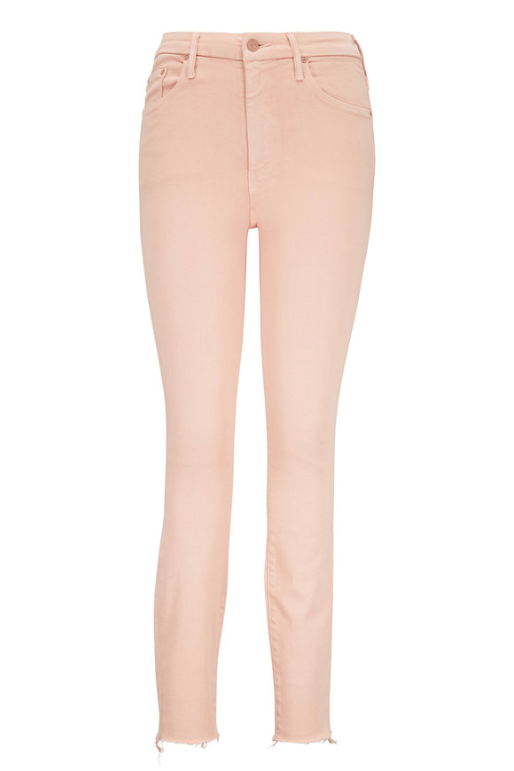 Mother Denim The Looker Peach High-Rise Ankle Jean