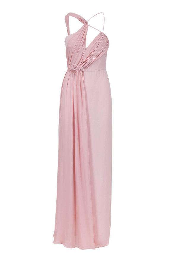 Cushnie Sloane Peony One-Shoulder Cut Out Gown