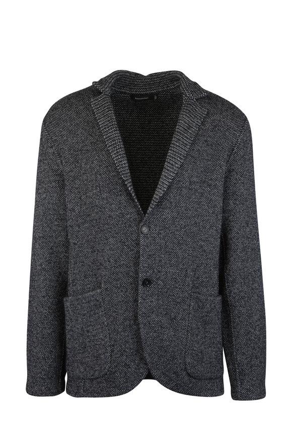 Ermenegildo Zegna Charcoal Gray Cashmere & Silk Cardigan