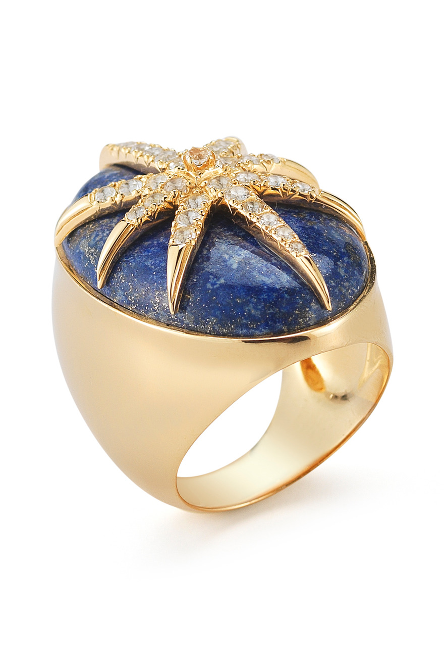 Northern Star Oval Cabochon Ring