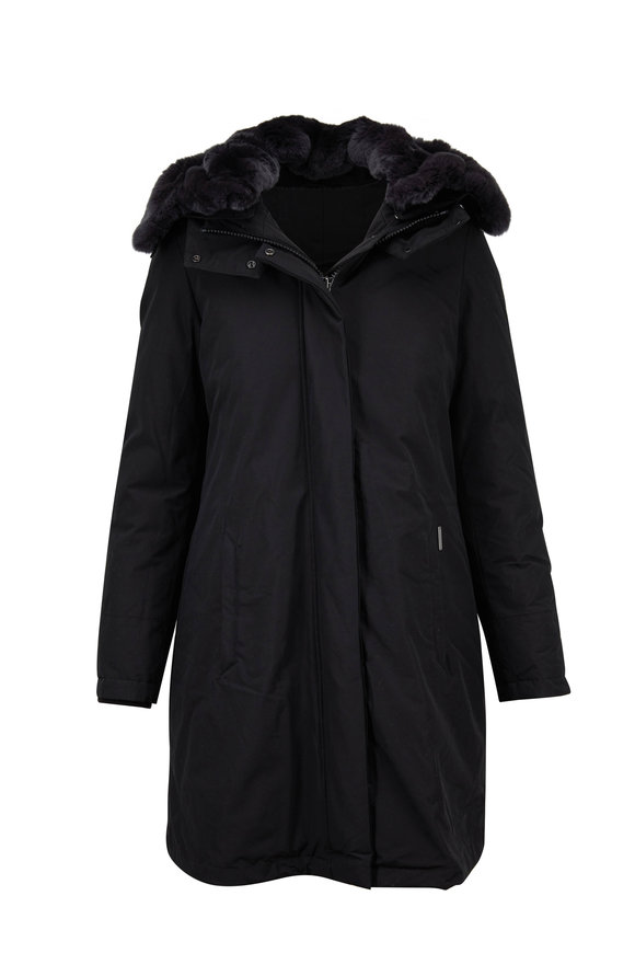 Woolrich Bow Bridge Black Down Parka