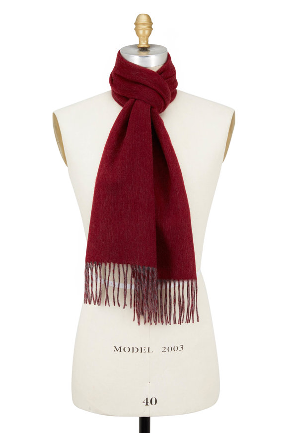 Raffi  Merlot & Granite Double-Faced Cashmere Scarf