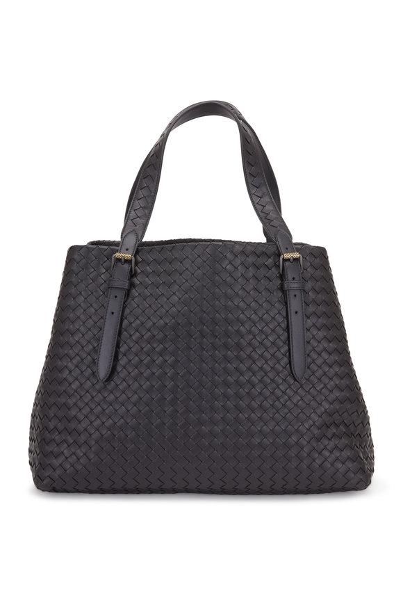 Bottega Veneta Cesta Black Intrecciato Large Tote Bag