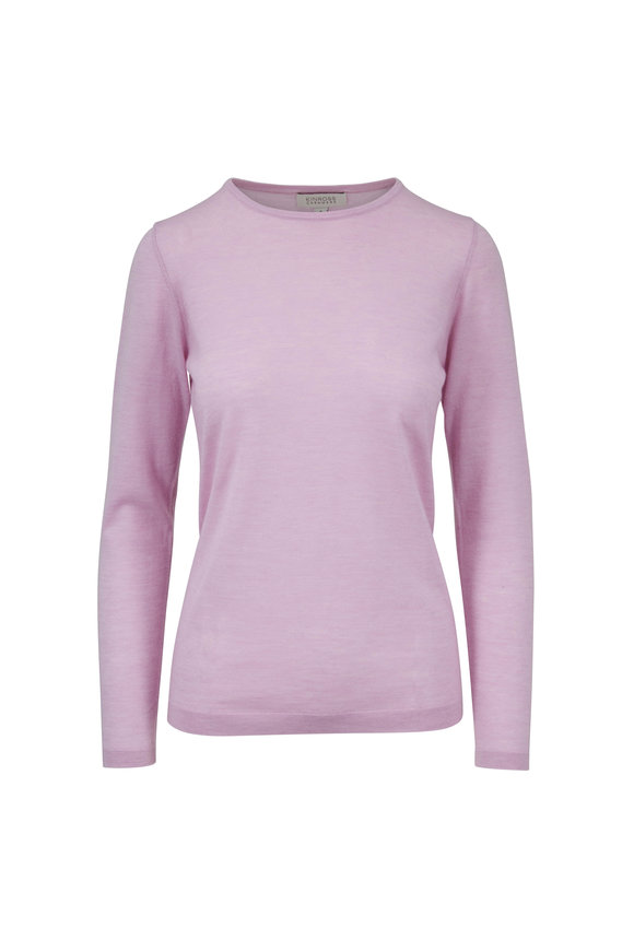 Kinross Freesia Worsted Cashmere Fitted Crewneck Sweater