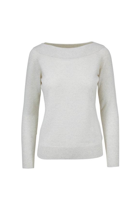 Kinross Whisper Cashmere Boatneck Sweater