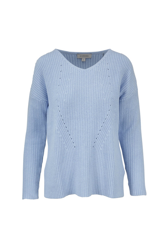 Kinross Serenity Supersoft Cotton Ribbed Sweater