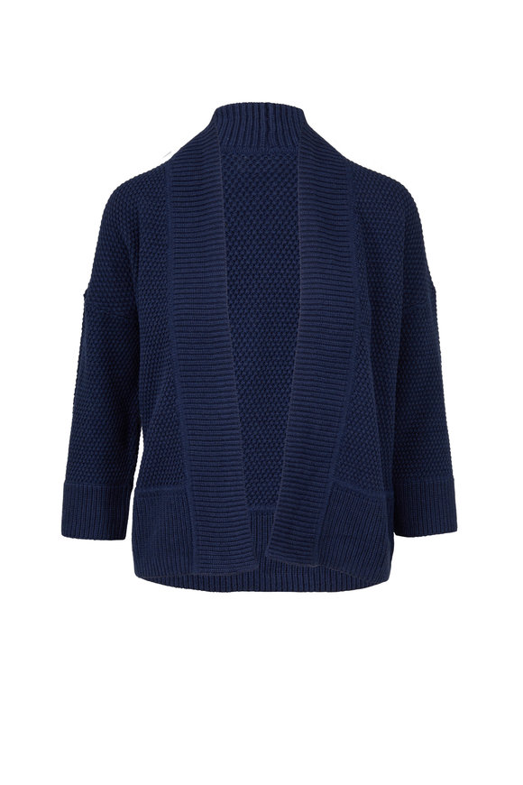 Kinross Twilight Supersoft Cotton Open Front Cardigan