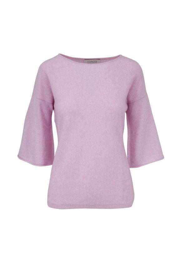 Kinross Freesia Cashmere Three-Quarter Sleeve Sweater