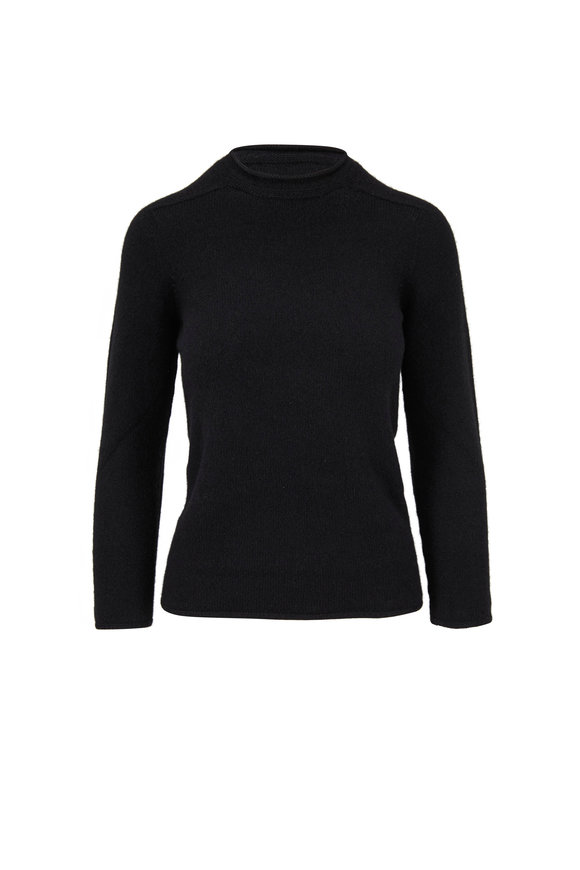 The Row Rickie Black Cashmere Sweater