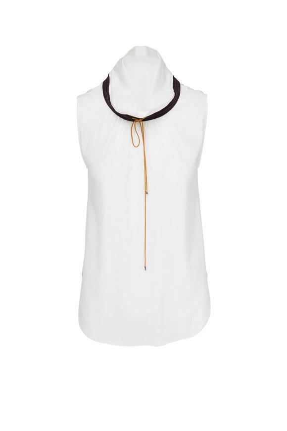 Dorothee Schumacher Divine Fluidity White, Black & Brown Shirt
