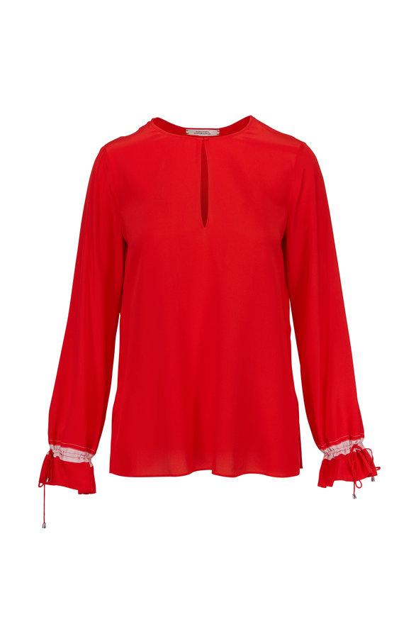 Dorothee Schumacher Divine Fluidity Red Silk Blouse