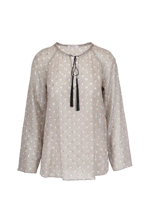 Dorothee Schumacher Heavenly Light Gray Printed Blouse