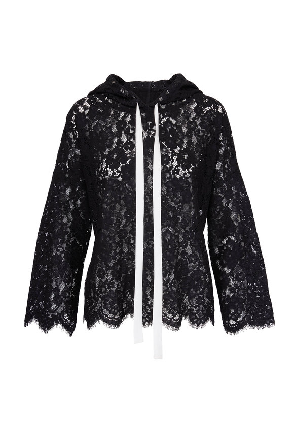 Dorothee Schumacher Energized Black Lace Hoodie