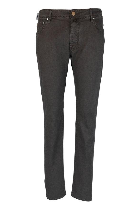 Jacob Cohen  Brown Five-Pocket Jean