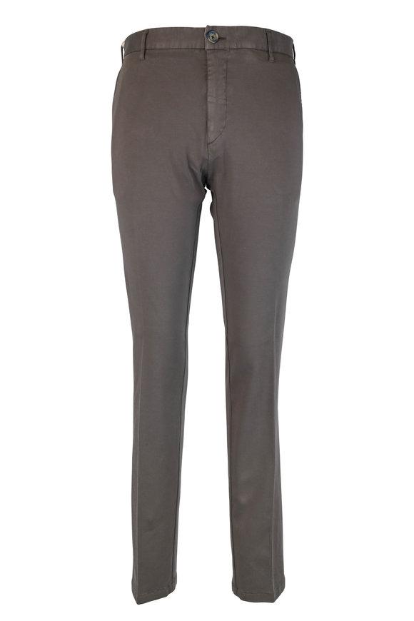 J.W. Brine Dark Gray Stretch Cotton Flat Front Pant