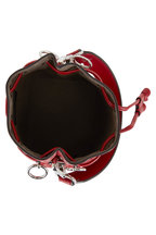 Fendi - Mon Tresor Red Logo Embossed Mini Bucket Bag