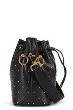 Fendi - Mon Tresor Black Leather Studded Mini Bucket Bag