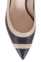 Fendi - Colibri Black & Nude Leather Pump, 85mm