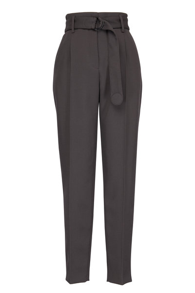 Akris Punto - Fred Olive Green Tricot Pleated Pant