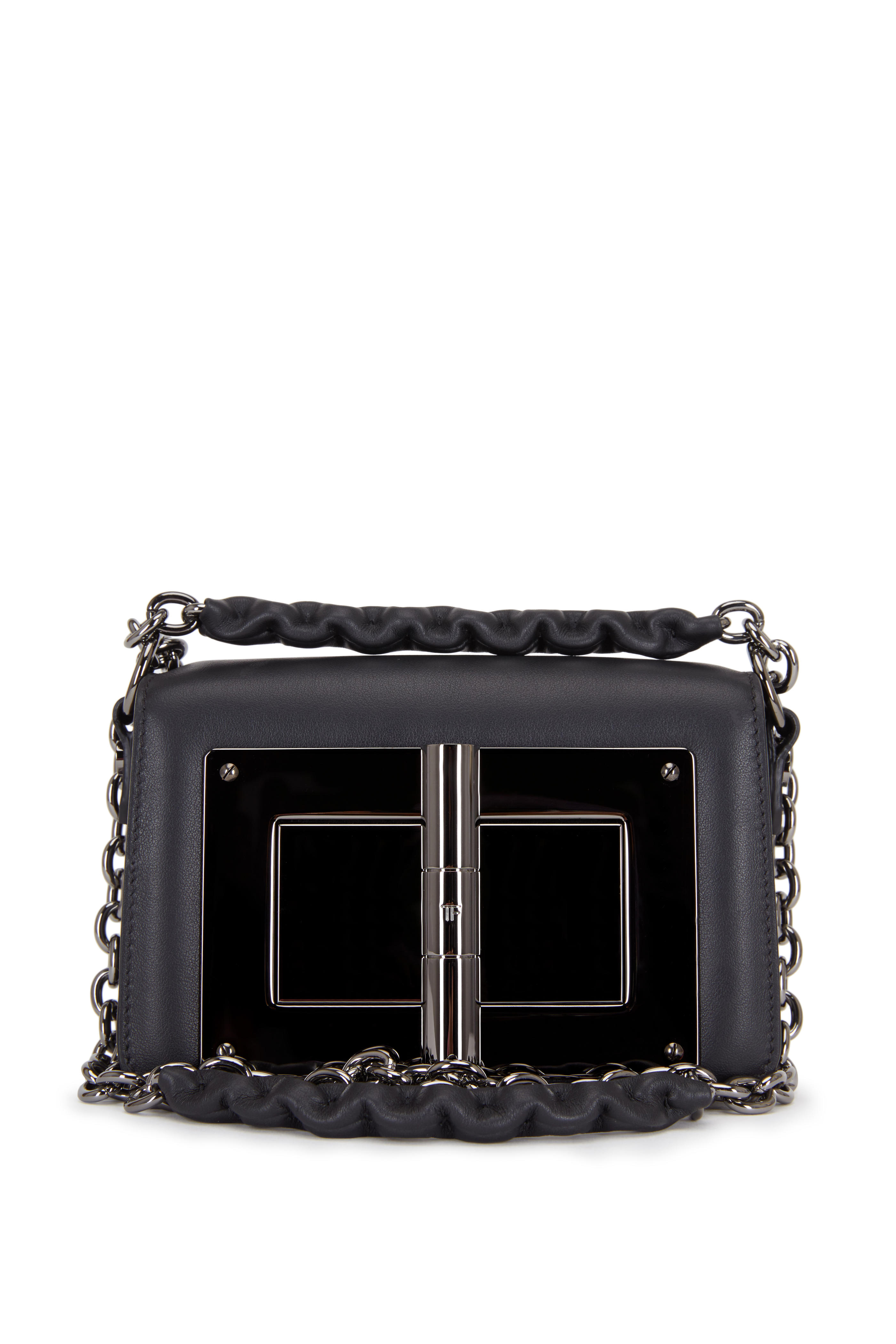 2f99c6739a29a Tom Ford - Natalia Black Leather Small Chain Bag | Mitchell Stores