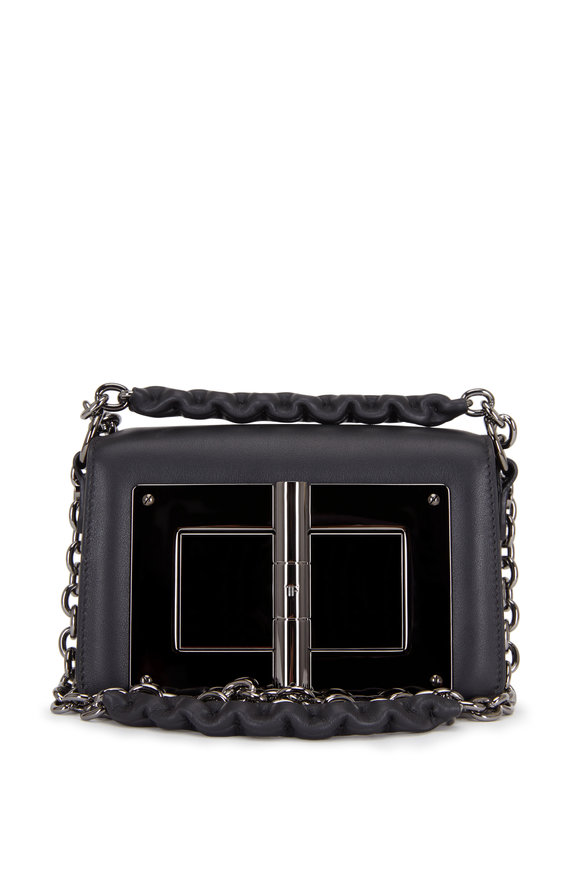 Tom Ford Natalia Black Leather Small Chain Bag
