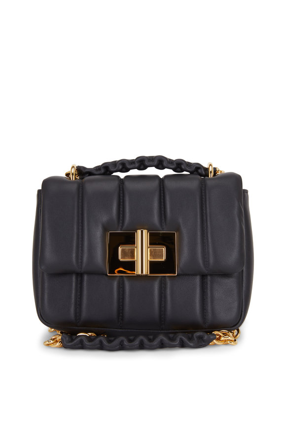 Tom Ford Natalia Black Soft Quilted Leather Small Bag