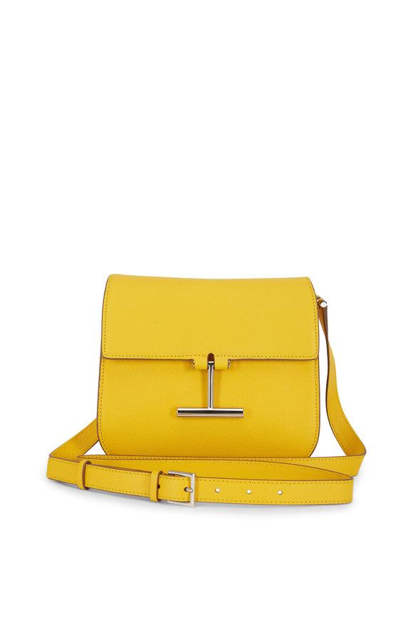 Tom Ford Tara Yellow Leather T Clasp Mini Crossbody