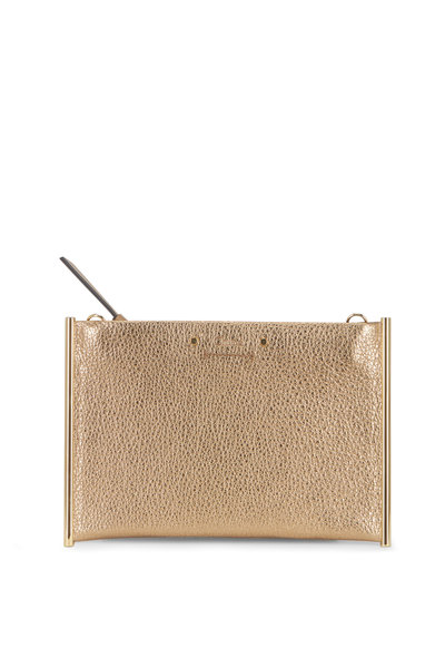 Chloé - Roy Metallic Gold Pouch Mini Crossbody Bag