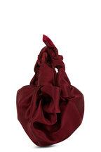 The Row - Ascot Maroon Satin Small Evening Bag