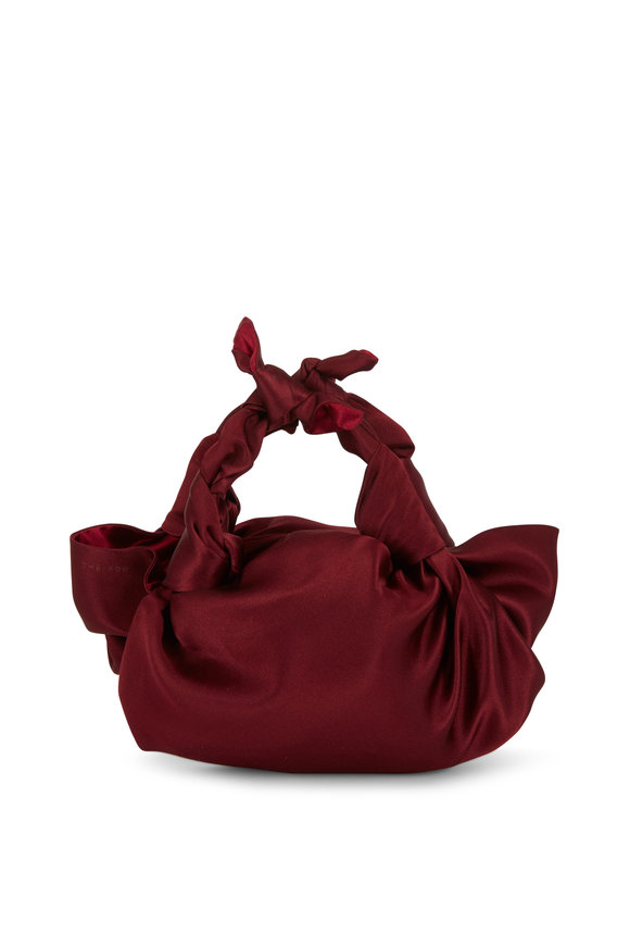 The Row Ascot Maroon Satin Small Evening Bag