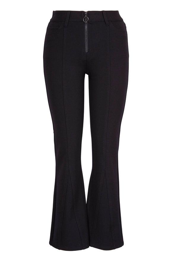 Paige Denim Colette Black Stretch Zip Front Pant