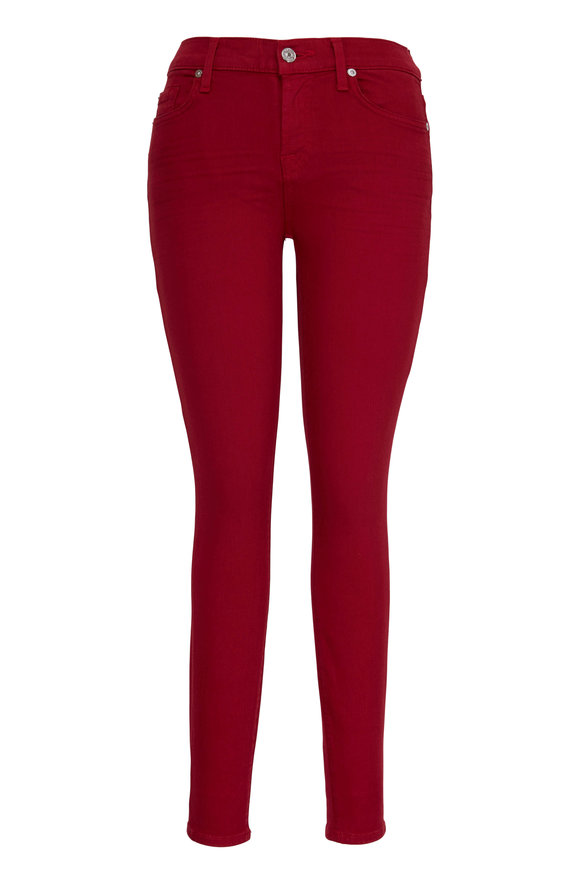 7 For All Mankind Red Ankle Skinny Jean