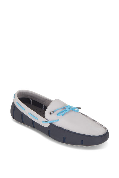 Swims - Gray & Blue Suede Lux Penny Driver