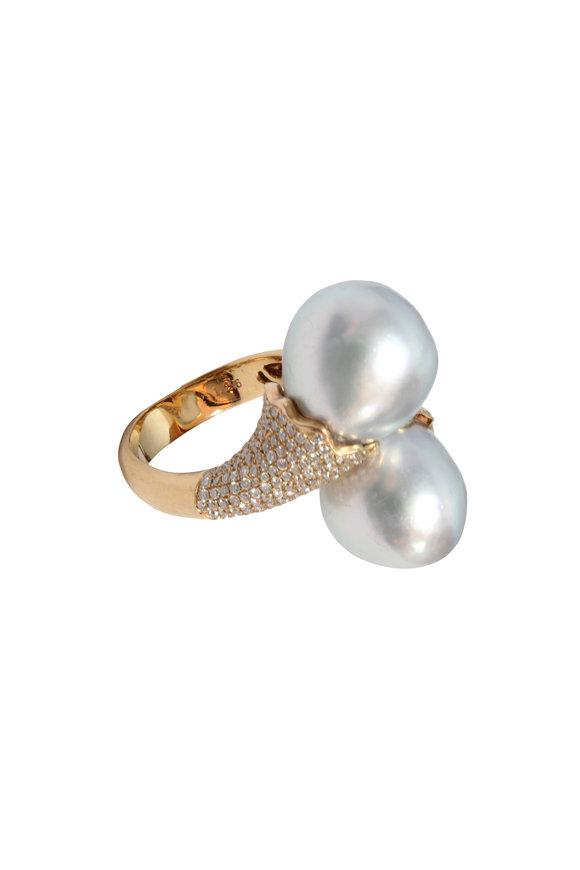 Belpearl 18K Rose Gold South Sea Pearl Ring