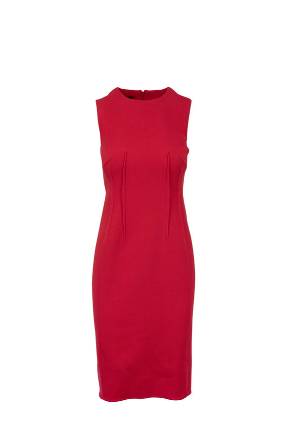 Akris Pink Wool Seam Sheath Dress