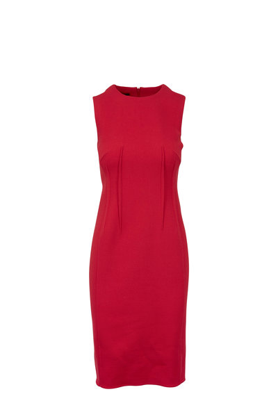 Akris - Pink Wool Seam Sheath Dress