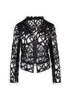 Akris - Amy Black Guipure Lace Zip Jacket
