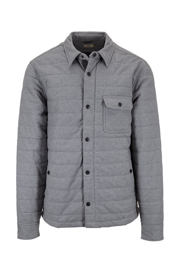 Faherty Brand Teton Valley Gray Quilted Jacket
