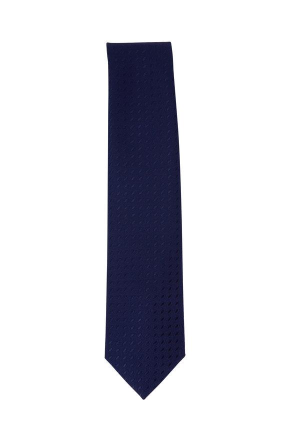 Charvet Navy Dot Silk Necktie
