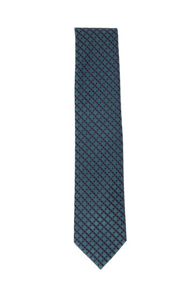 Brioni - Green Circles Silk Necktie