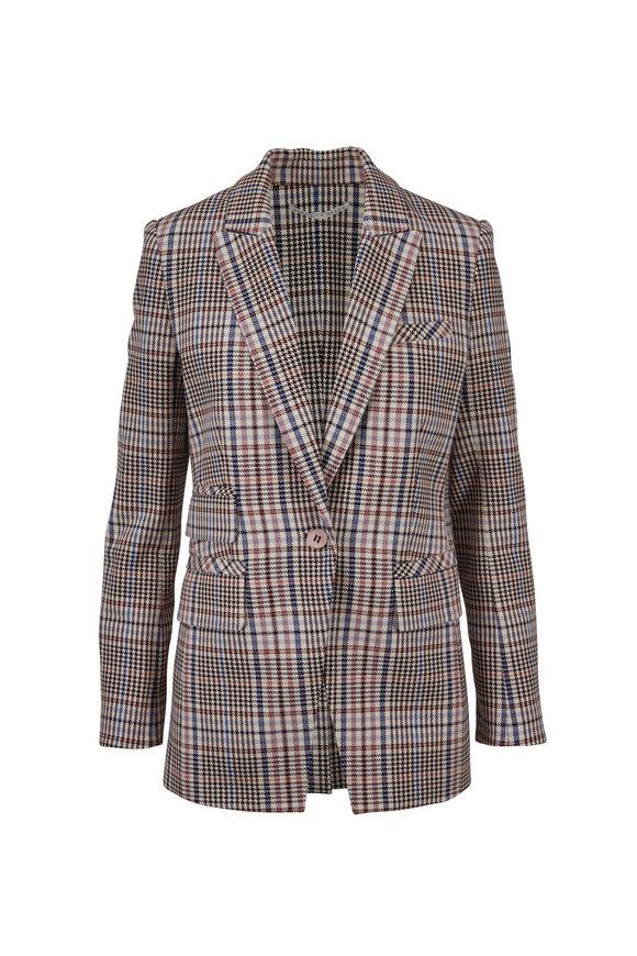 Veronica Beard Fuller Cream/Multi Plaid Dickey Jacket