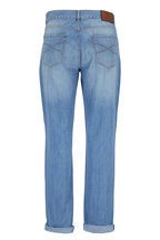 Brunello Cucinelli - Light Wash Traditional Fit Five-Pocket Jean