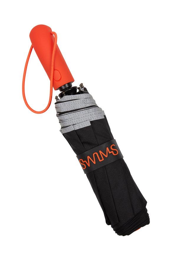Swims Black & Orange Short Umbrella