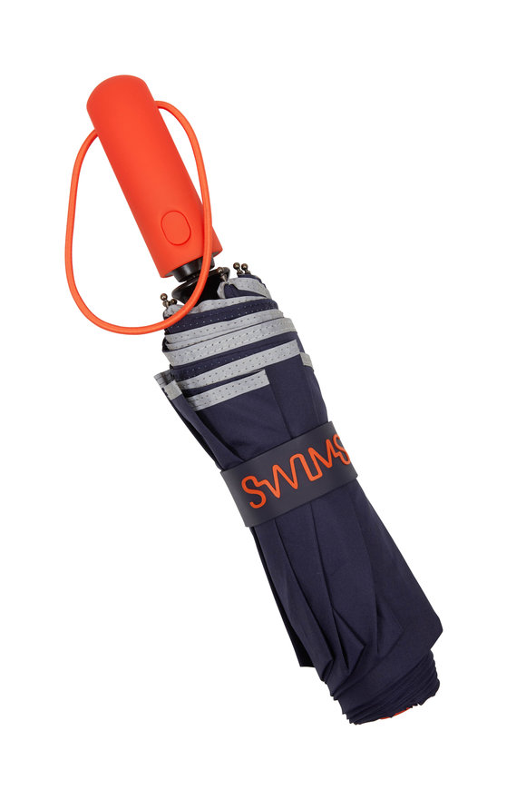 Swims Navy & Orange Short Umbrella