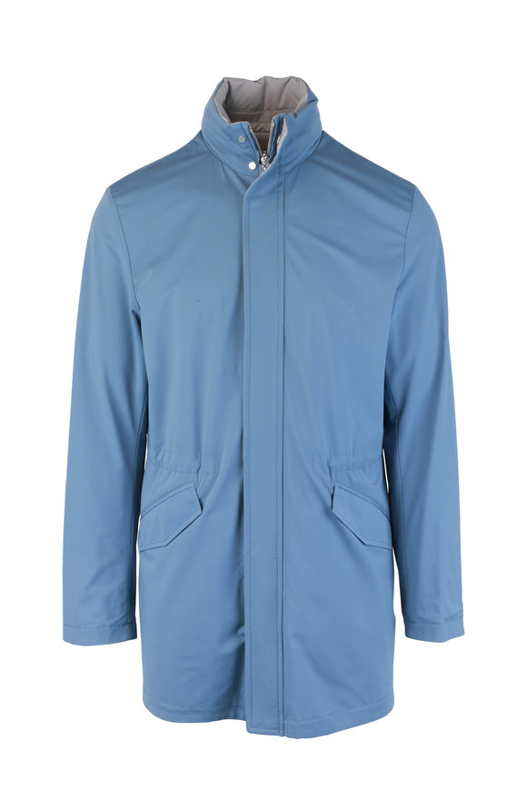 Kiton Blue & Tan Reversible Jacket