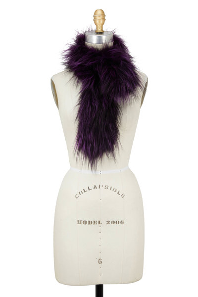 Viktoria Stass - Purple Fox Short Scarf