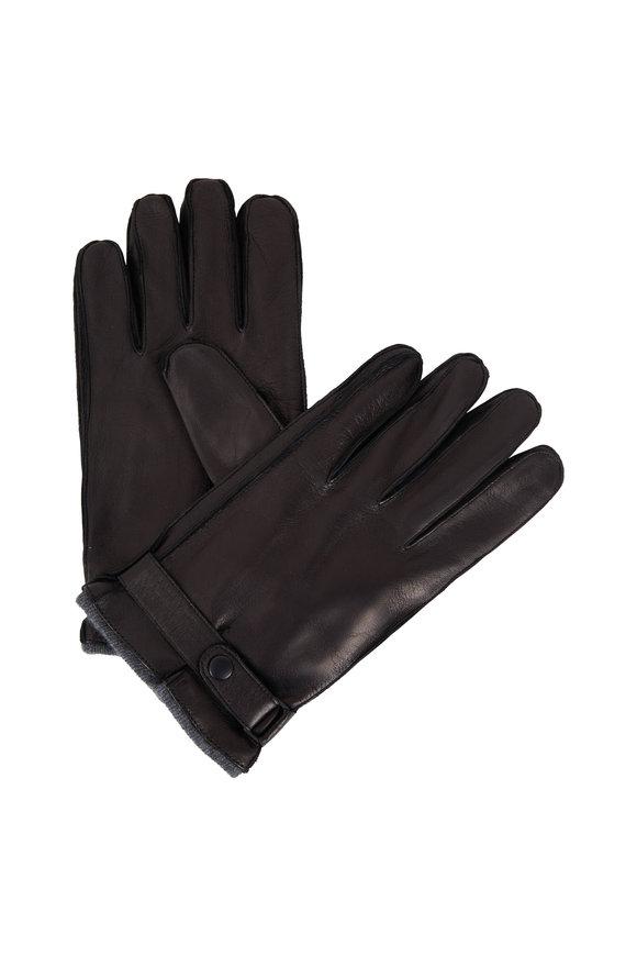Portolano Black Cashmere Lined Gloves