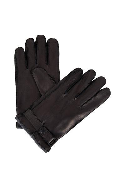 Portolano - Black Cashmere Lined Gloves