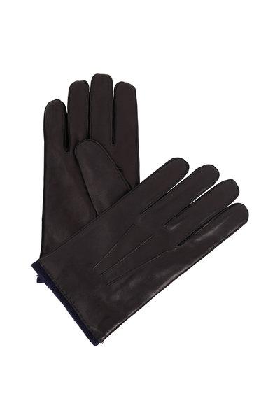 Portolano - Black Leather Gloves