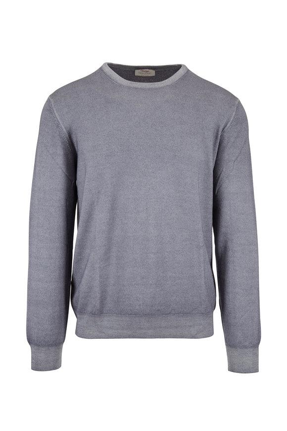Gran Sasso Vintage Gray Wool Crewneck Pullover